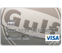 The Gulf Visa Card allows you to earn points every time you use your card - at Gulf stations and everywhere else.